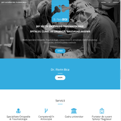 Proiect web design site prezentare medic preview-mic Dr. Florin Bica