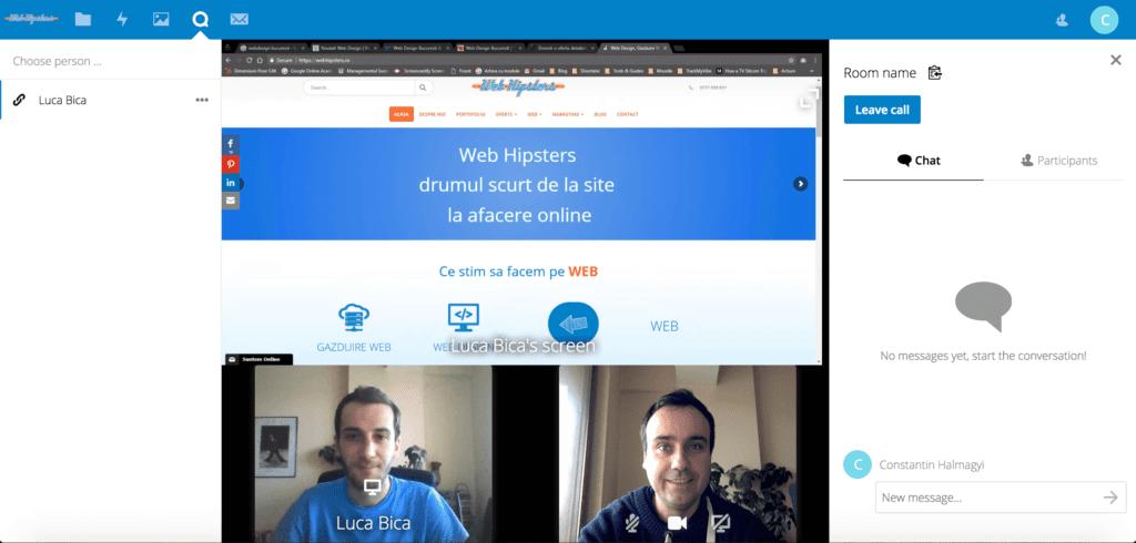Apel video si partajarea ecranului prin NextCloud