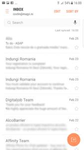 pasul 7 instalare cont mail personal pe telefon mobil