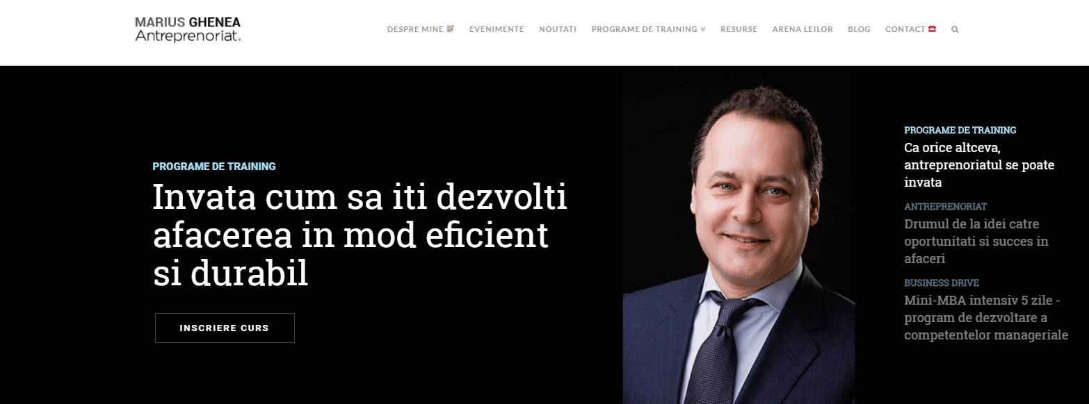 Marius Ghenea antreprenor Bucuresti