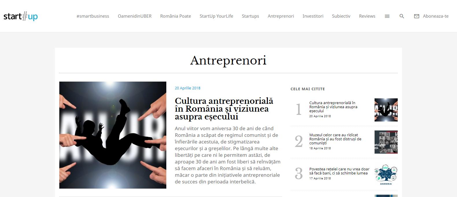 blog antreprenoriat startup