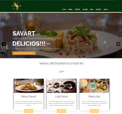 webdesign site restaurant Savart Bucuresti