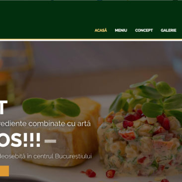 webdesign site restaurant bucuresti