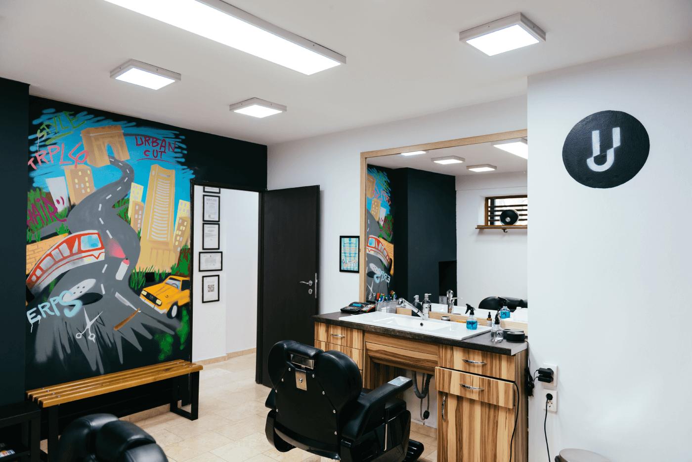 Salon Frizerie Urban Cut Bucuresti - dupa renovare
