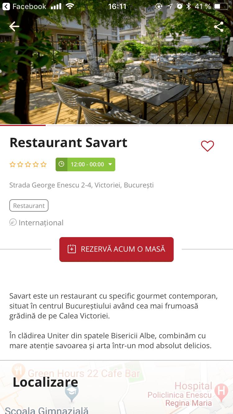 captura ecran Ialoc aplicatie rezervari restaurant