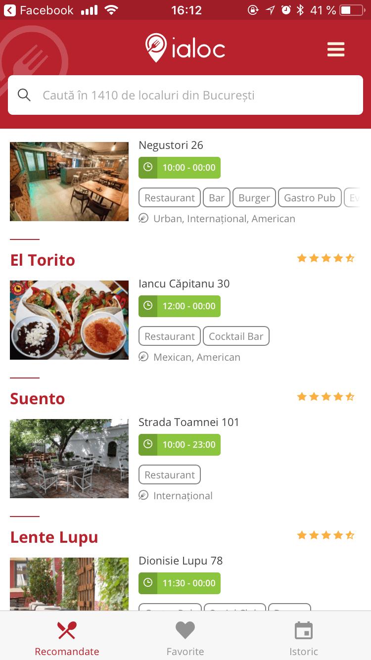 Ialoc aplicatie rezervari restaurant