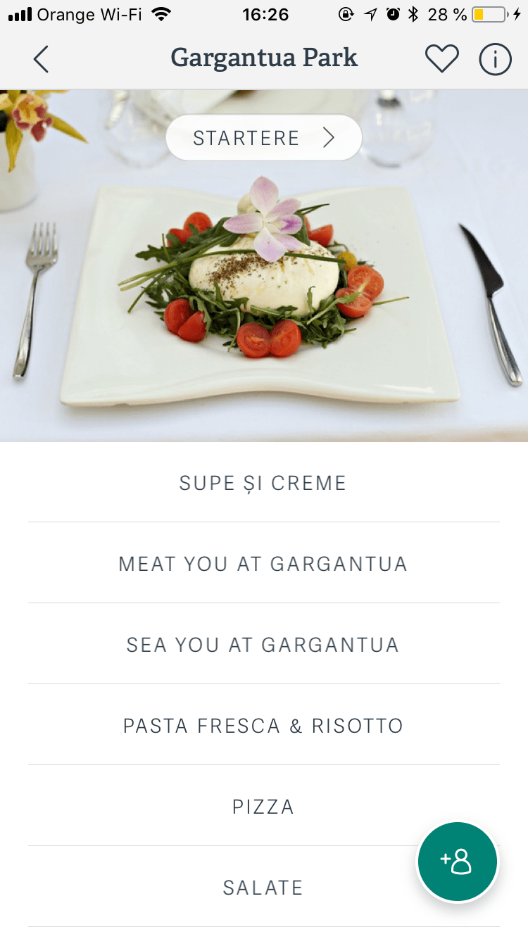 profil restaurant aplicatie rezervari restaurante Bucuresti