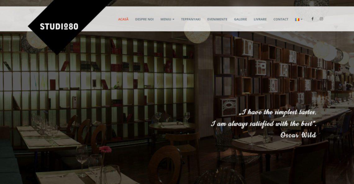 website restaurant studio 80 cover proiect