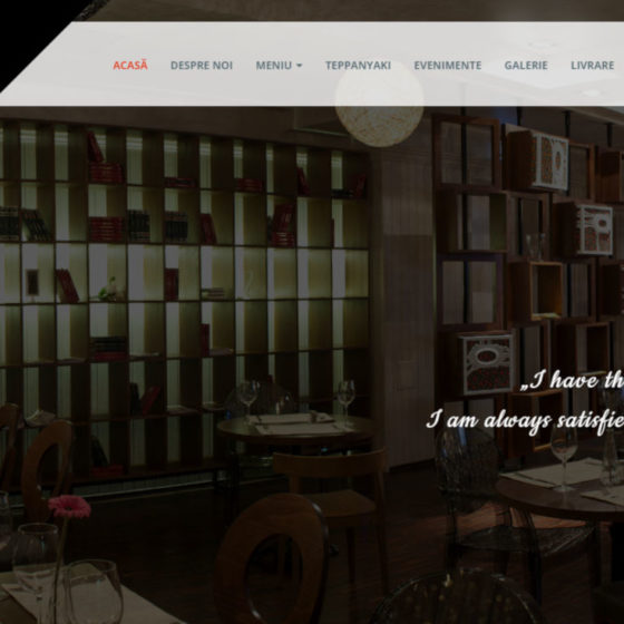 website restaurant studio 80 cover proiect