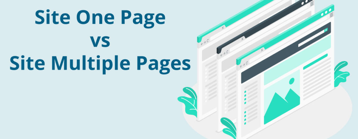 Site On Page vs Site Multiple Pages