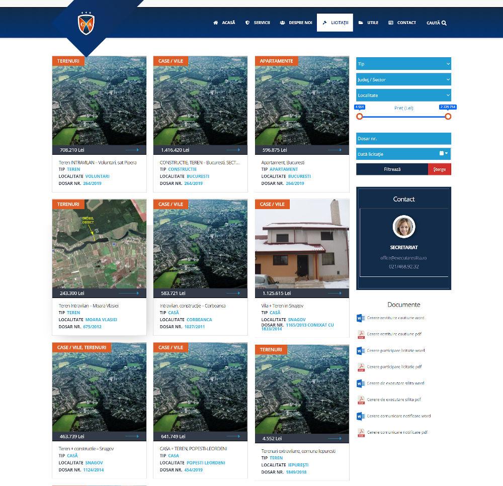 Modul licitatii personalizat site wordpress
