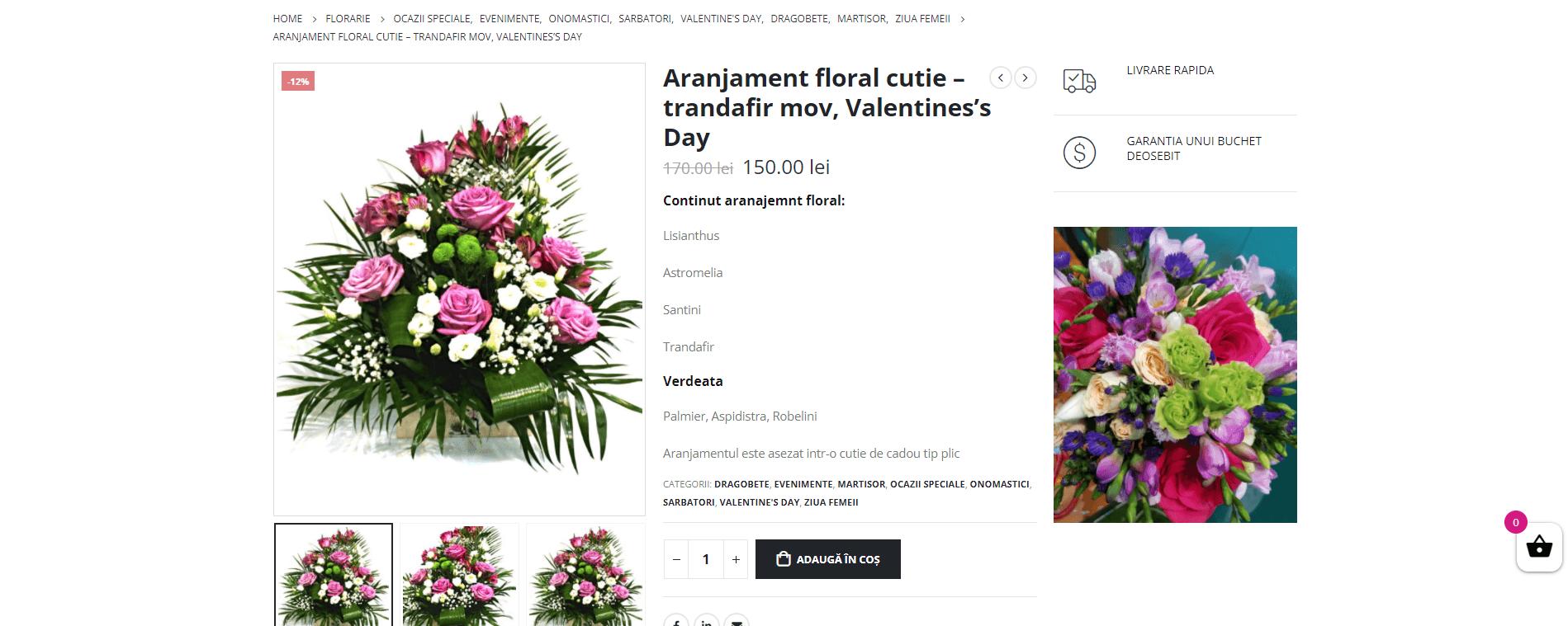 Portofoliu Magazin Online Flori 3
