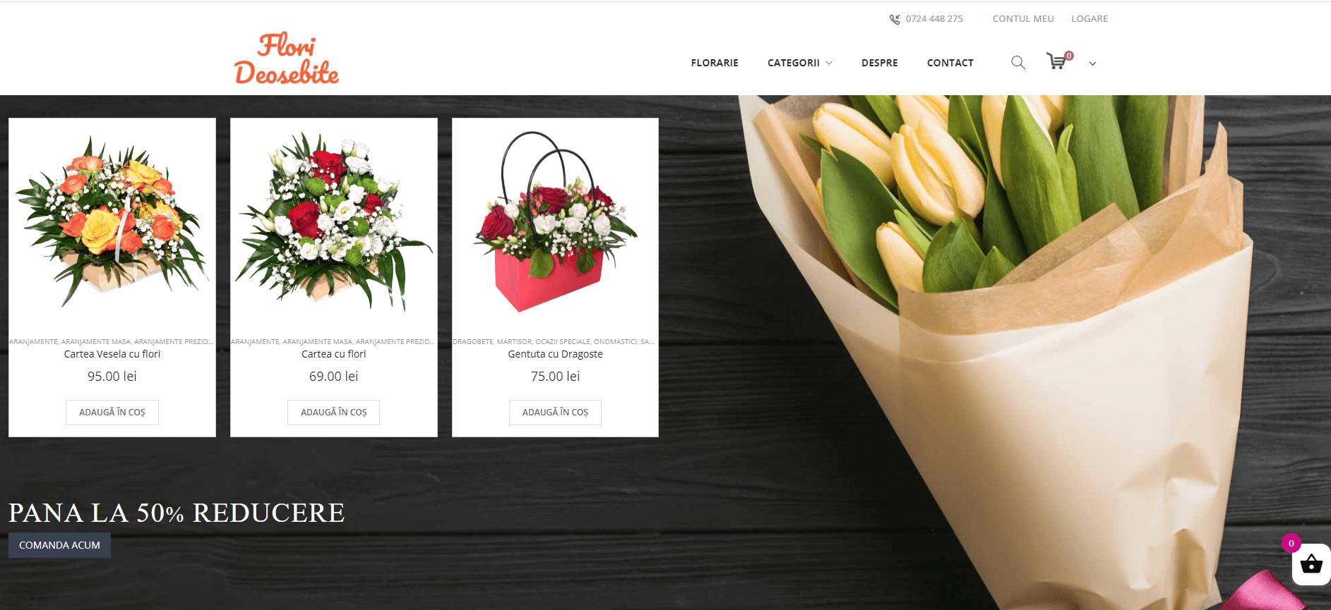Portofoliu Magazin Online Flori - Home Page