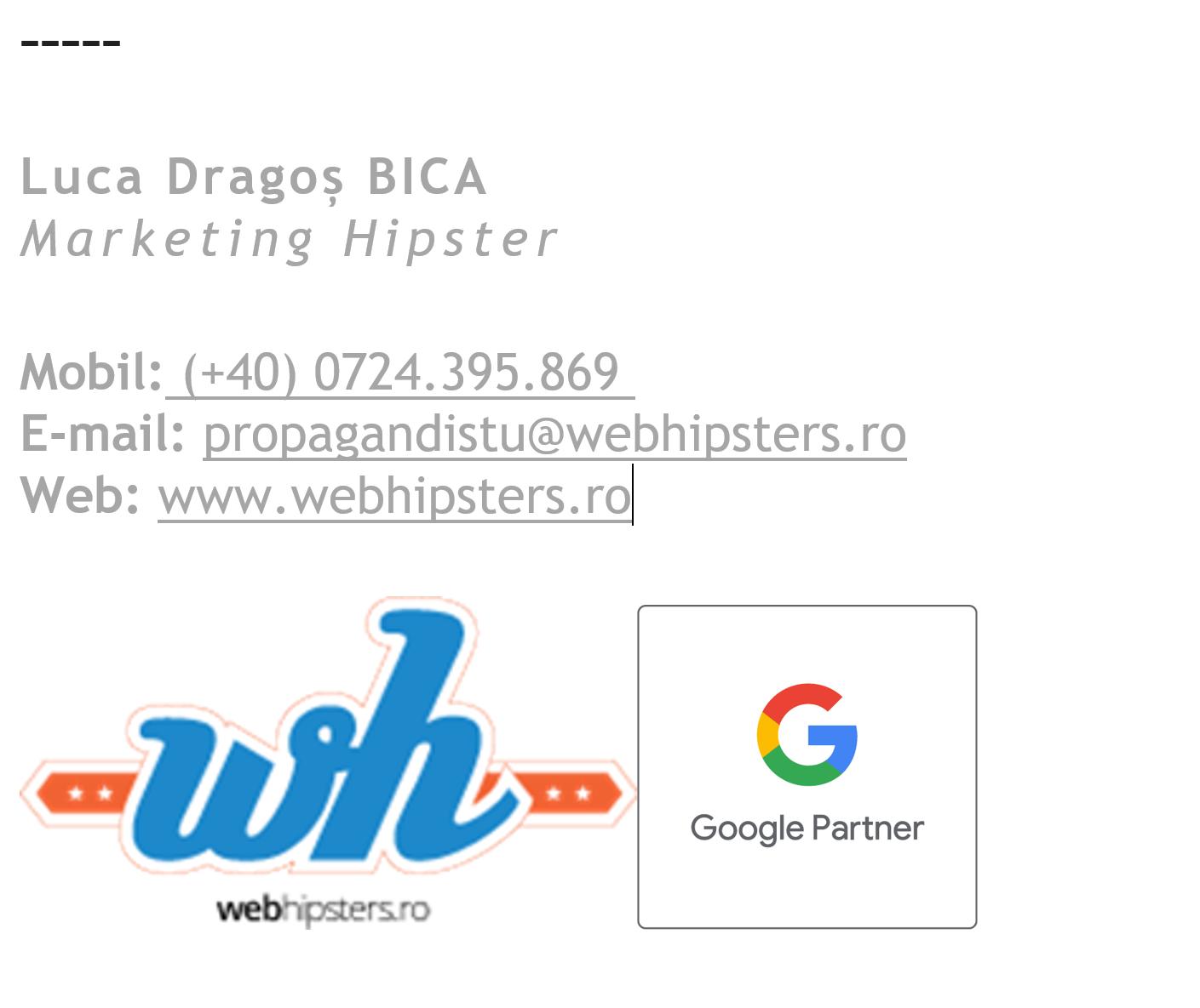 Model Semnatura Email WebHipsters